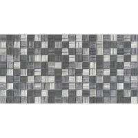 Плитка AXIMA Мегаполис темно-серая мозаика 25х50 Настенная