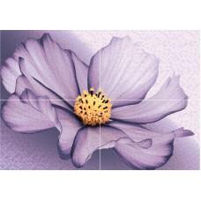 Плитка AXIMA Виола D из 4-х плиток рельеф 28х40 Панно